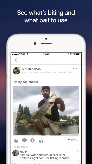 Fishbrain social fishing app report on mobile action for Fish brain app