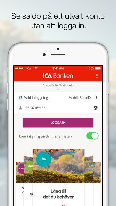 ica appen logga in app