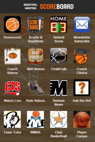 Basketball Manitoba Scoreboard screenshot 1