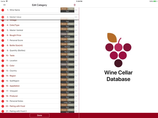 Wine Cellar Database Скриншоты10