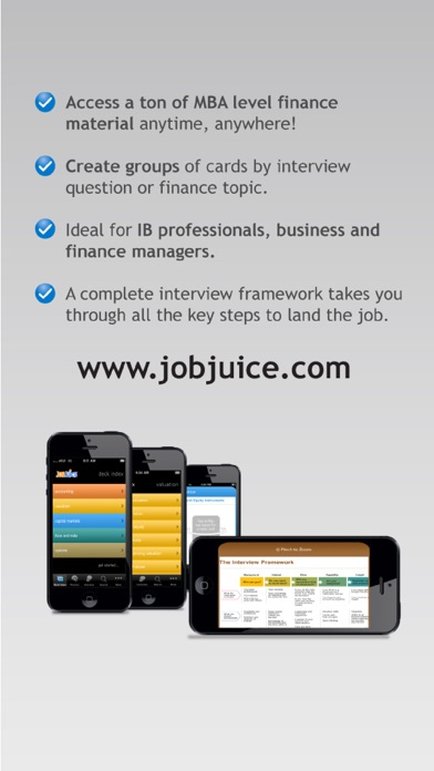 Jobjuice Fin. & Inv. Banking Screenshots