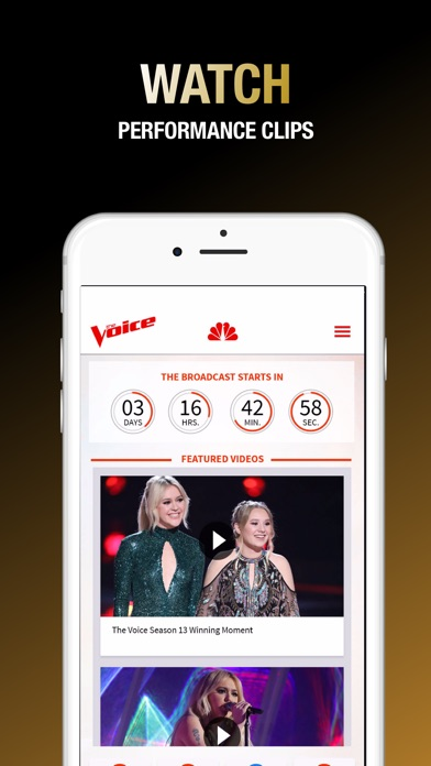 download The Voice Official App on NBC apps 1
