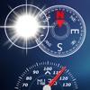 Compass, Flashlight, Speedometer, Altimeter, Course