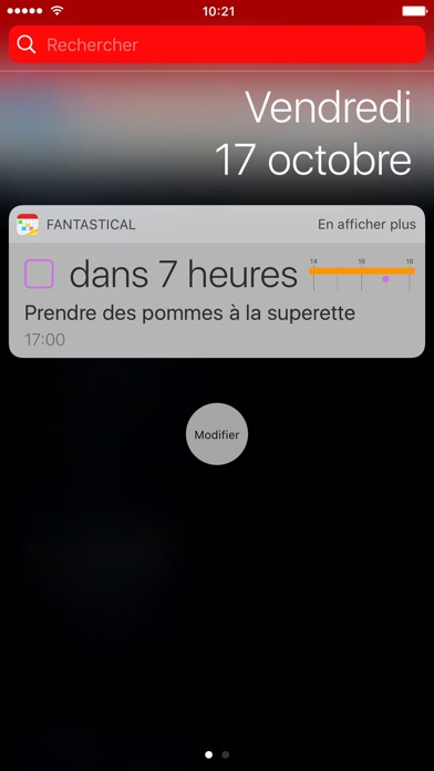 Fantastical 2 pour iPhone Capture d'écran