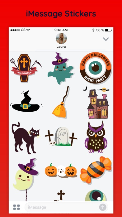 Spirit Halloween Emoji Sticker App Screenshots