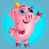 Yuri Andryushin - Pig Willie - Set of beautiful cute emoji emotions  artwork