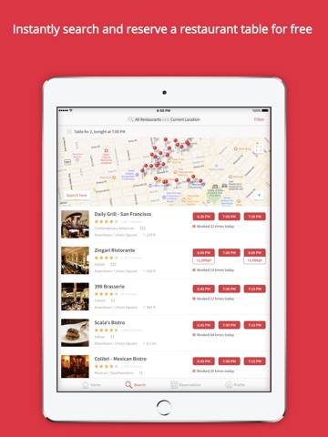 OpenTable screenshot 2