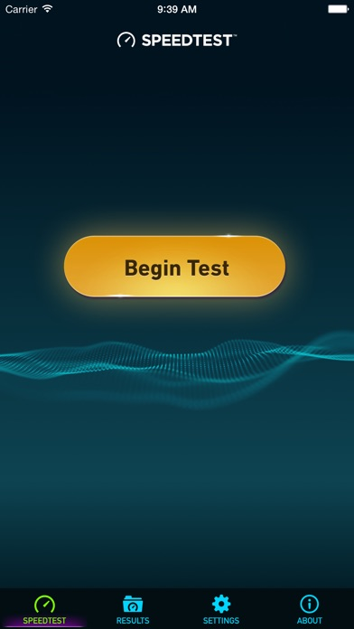 Speedtest.net Speed Test Screenshot