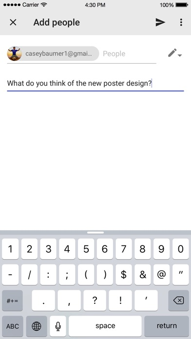 Screenshot 4 for Google Drive's iPhone app'