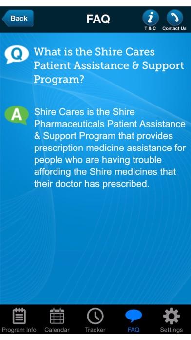 Shire Cares Mobile ApplicationScreenshot of 4