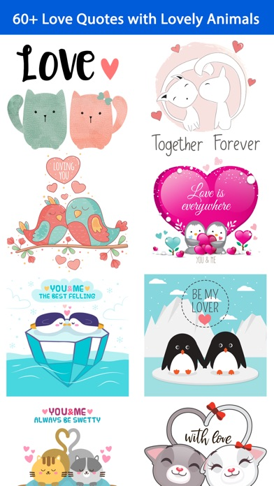 App Shopper Love Quotes With Lovely Cute Animal Couple Pack