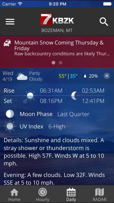 KBZK STORMTracker Weather AppScreenshot of 4