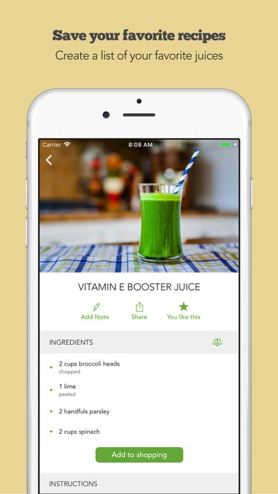 Screenshot for Juice Challenge by Young & Raw in United Arab Emirates App Store