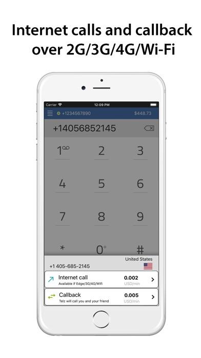 Telz - Международные звонкиСкриншоты 3
