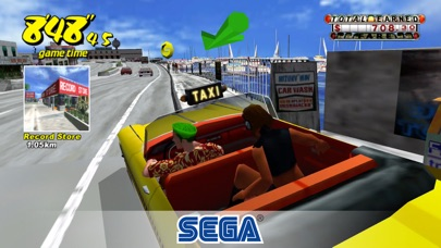 Screenshot of Crazy Taxi Classic3