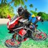 Water Surfer Beach Bike Rider