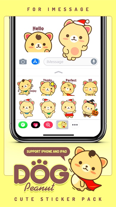 Screenshot of Peanut Dog StickerCute Emoji3