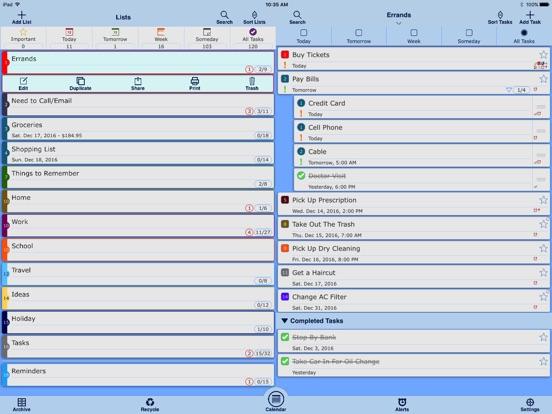 Listaway - To Do & Task List Screenshots
