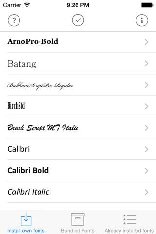 AnyFont screenshot 1