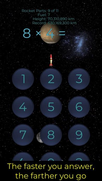 Screenshot of Rocket Arithmetic Times Tables App
