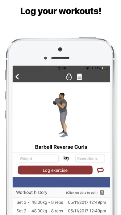 Screenshot #6 for Gymster- Workouts + IIFYM Diet