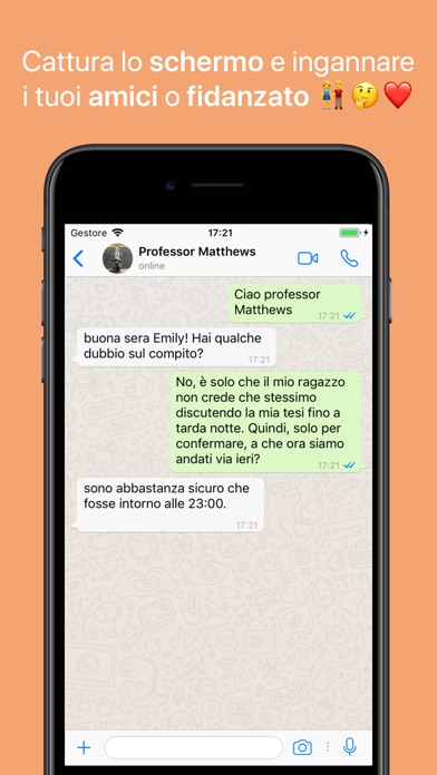 Screenshot of WhatsFake - Creare Falsi Chats2