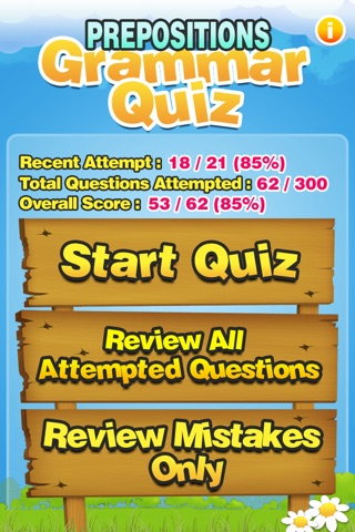 Prepositions Grammar Quiz K-5 screenshot 1