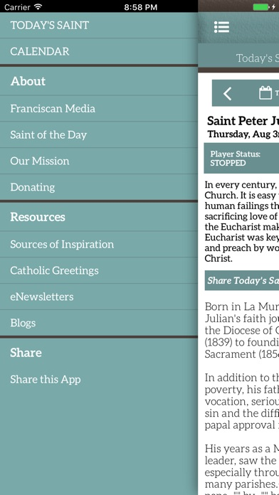 Screenshot #8 for Saint of the Day