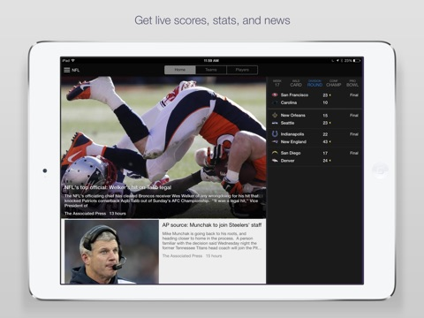 Yahoo Sports: Football & More screenshot 1