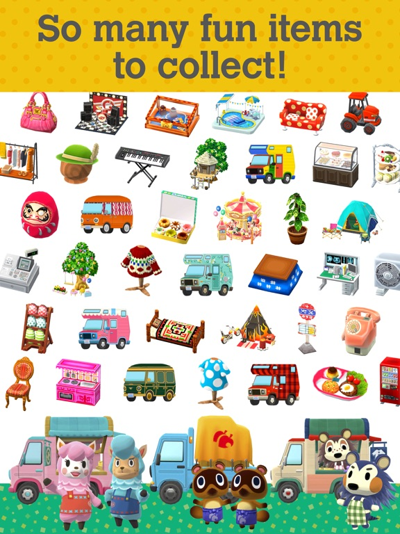 Screenshots of Animal Crossing: Pocket Camp for iPad