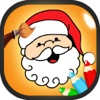 Santa Color Book-Draw & Color