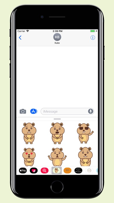 download Hamster - Cute pet stickers apps 3