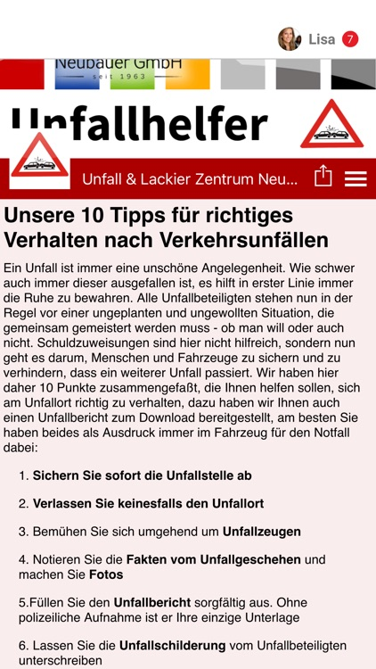 Unfall & Lackier Neubauer by Tobit.Software