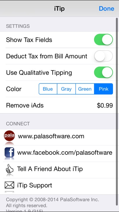 iTip Calc by PalaSoftware screenshot four
