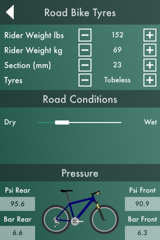 Bike Workshop  : Tire Pressure Calculator, Gear Ratio Calculator, and Speedometer screenshot 4