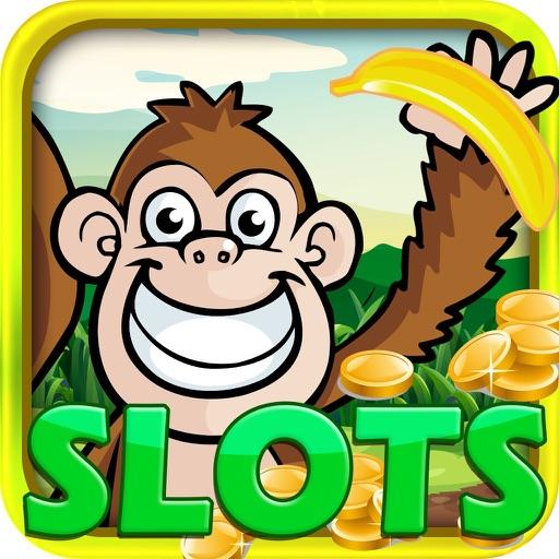 'A Monkey in the Jungle Vegas Slots Machine Casino : Banana Bonus Game iOS App