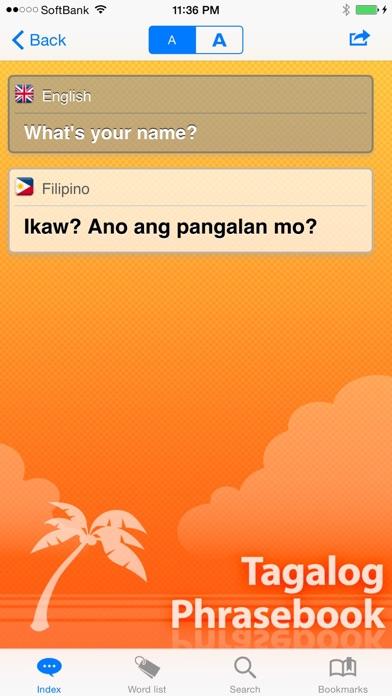 Screenshot for Tagalog Phrasebook & Dict in India App Store