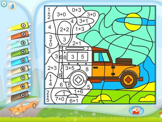 Раскрась по номерам – Машинки для iPad