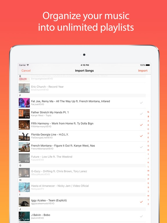 Screenshots of Musi - Unlimited Free Music For YouTube for iPad