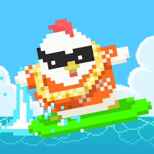 Chicken Surfer - Road to summer vacation! iOS App