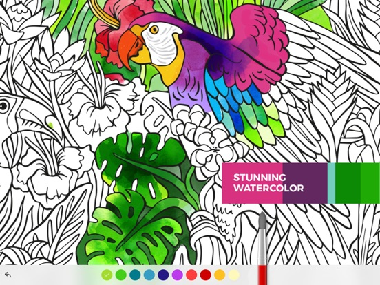 ipad screenshot 1 - Coloring Book App For Adults