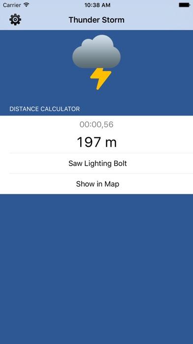Thunder Storm Lite - Distance from LightningScreenshot of 1