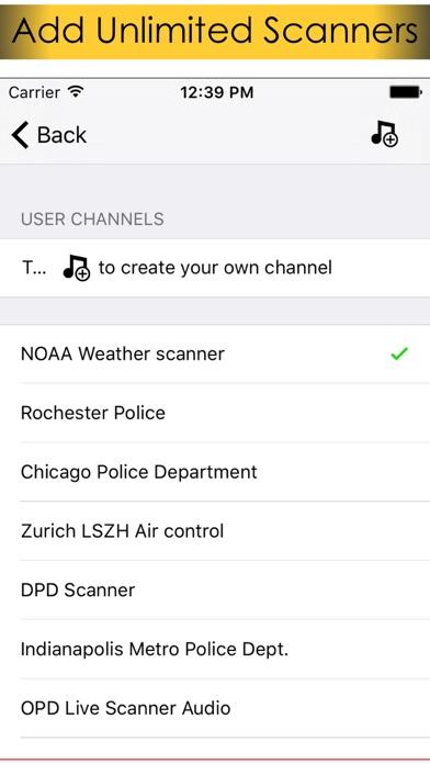 Screenshot of La polizia vivono scanner radio - Il miglior scanner polizia RSS da su stazioni radio di linea2
