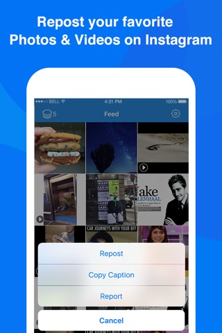Repost Videos for Instagram & Save Your Time - Repost Photos and Video on Instagram Free screenshot 1