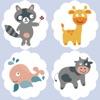 動畫動物小狗Memorie兒童和嬰兒遊戲為幼兒!免費教育活動學習應用程序