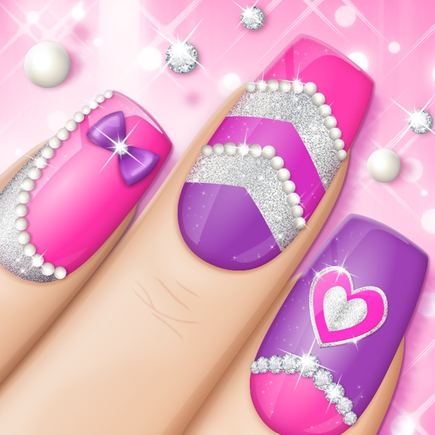 Fashion nail art designs game pink nails manicure salon and fashion nail art designs game pink nails manicure salon and beauty studio for girls on the app store prinsesfo Images