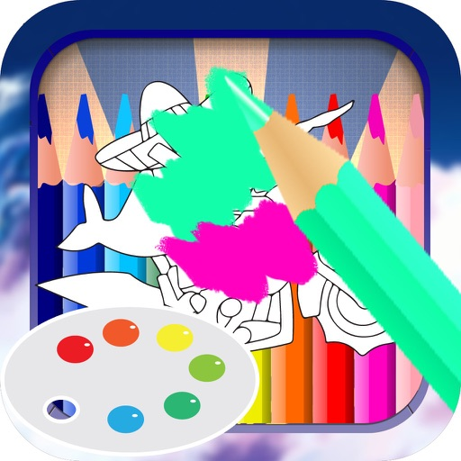 Color Book Game For Kids: Sky Whale Version iOS App