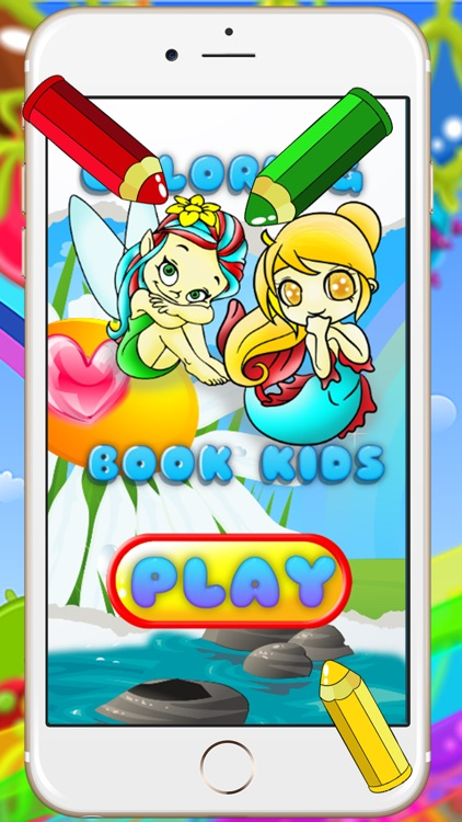 fairy coloring book and painting for toddlers hd free lite colorful childrens educational drawing games - Paint Games For Toddlers