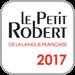 Le Petit Robert de la langue française 2017