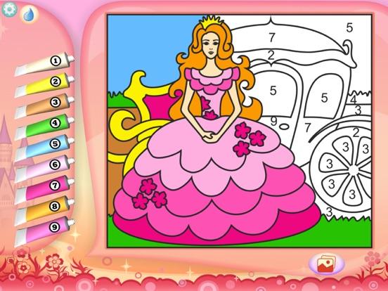 Скачать игру Раскрась по номерам - Принцессы - Бесплатно